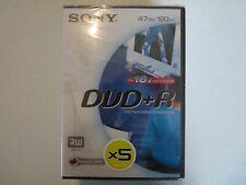 DVD+R Vierge - Enregistrable - SONY - 4.7GB/120min - 16x - NEUF - x5 pcs