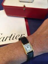CARTIER TANK WATCH CLASSIC PARIS 18k YELLOW GOLD LADIES SIZE