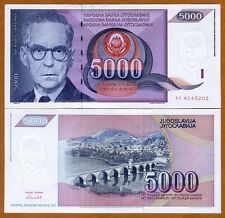 Yugoslavia, 5000 Dinara, 1991, P-111, UNC