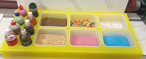 ICE CREAM VAN DISPLAY STAND TOPPINGS JUICE Yellow PERSPEX®  ANY COLOR