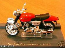 MOTO BIKE NORTON COMMANDO 1969 1/24 ROUGE RED NEW ROT