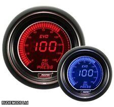 Prosport 52mm Evo coche Manómetro de aceite rojo Y Azul Lcd Pantalla Digital