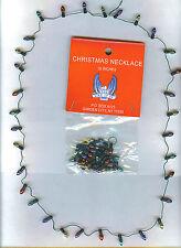 1 CHRISTMAS NECKLACE-32 TINY COLOR METALLIC LITE BULBS