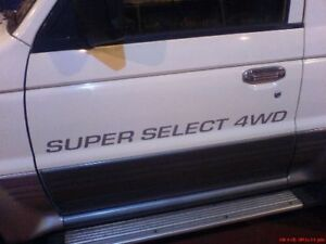 Pair of  Super Select Door Decals Mitsubishi / Pajero