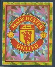 TOPPS MATCH ATTAX 2018-19-#235-MANCHESTER UNITED TEAM BADGE-SILVER FOIL