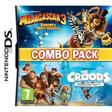 Madagascar 3 & The Croods Double Pack Game Nintendo NDS DS Lite DSi XL Brand New