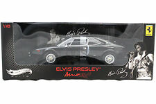 HOT WHEELS ELITE STARS FERRARI DINO 308 GT4 ELVIS PRESLEY BLACK 1/18 V7425
