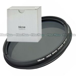 Nicna Fader Variable Adjust ND filter ND2 ND4 ND8 to ND400 46mm~86mm 58 67 77 mm