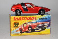 MATCHBOX SUPERFAST #41 SIVA SPYDER CUSTOM SHOW ROD, MAGENTA, BLACK STRIPE, BOXED