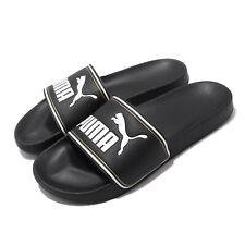 Puma Leadcat FTR Black White Gold Men Unisex Sandals Slides Slippers 372276-01