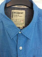 Men's DISSIDENT Blue Mix Small Checked Button Down Short Sleeved Shirt Size XXL