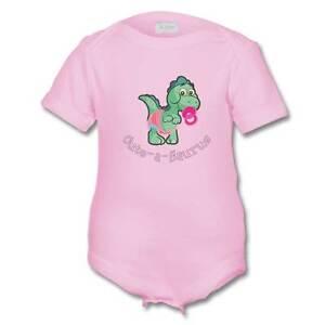 Cute-A-Saurus Fun Cute Dinosaur Baby Girls Sleepsuit Vest Romper