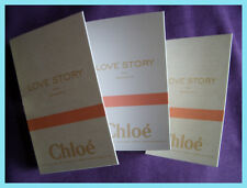 Chloe LOVE STORY  3 x 1.2ml EDP Eau de Parfum samples / vials