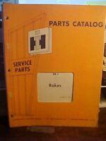 Issued 1/74 IH RK-1 Rakes Parts Catalog  (1M)