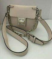 NWT Steve Madden Ivory Faux Leather Crossbody Bag Saddle Shoulder Handbag Purse