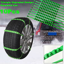 10x Car Nylon Snow Chains Wheel Tire Emergency Anti Skid Zip Tie Belt Universal