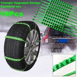 10x Car Nylon Snow Chains Wheel Tire Emergency Anti Skid Zip Tie Belt Universal
