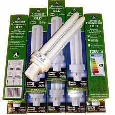 10 x 18 watt 2 pin low energy fluorescent lamps CFL light bulbs cool white BELL