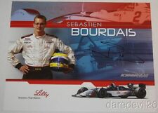 2003 Sebastien Bourdais signed Lilly Ford Lola CART Champ Car postcard