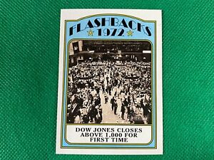 2021 Topps Heritage News Flashbacks #NFDJ Dow Jones Closes Above 1,000 for First