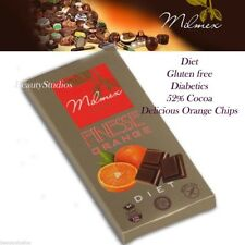 Sugar Free Chocolate Diet Weight Loss 52% Cocoa+Orange Pieces Gluten Free 80g