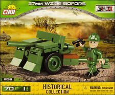 COBI Bofors 37 mm WZ.36 (2159) - 70 elem. - WWII Swedish/Polish anti-tank gun