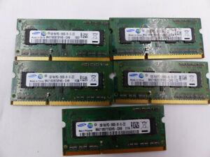 5* SAMSUNG 1GB 1RX8 PC3-10600S-09-10-ZZZ MEMORY CARD CN M471B2873FHS-CH9 1130