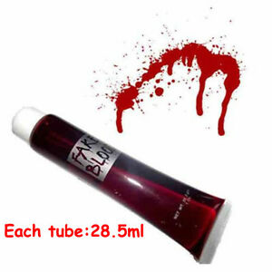 VAMPIRE ZOMBIE FAKE BLOOD 28.5ml DRACULA BLOOD HALLOWEEN FANCY DRESS ACCESSORY