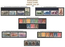 TURKEY 1951, COMPLETE YEAR SET, INCLUDES OFFICIAL AND DEFINITIVE STAMPS, MNH