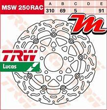 Disque de frein Avant TRW Lucas MSW 250 RAC pour Suzuki SV 1000 , S WVBX 2003-08