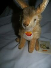 STEIFF RABBIT WITH BIG EARS GOLD IN COLOR