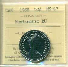 1988 Canada 50 Cent NBU ICCS MS-67, Very Affordable for New Hobbyist