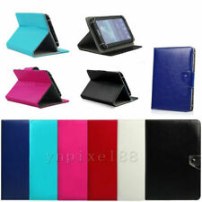 "Universal Adjustable Leather Stand Cover Case For 7"" 7 Inch Android Tablet US"