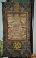 Tibet temple Silk Cloth Padmasambhava Guru Rinpoche Wall hanging Thangka Tangka
