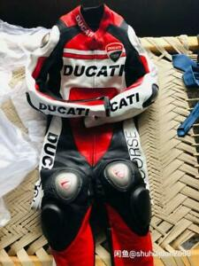 DUCATI Motorcycle Riding Suit cowhide Leather Suit Motorbike Racing Suits