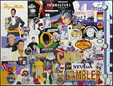 "Steve Kaufman""I love Las Vegas""casino Hand Signed Giclee Hand Embellished"