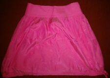 New DKNY Jeans Pink Silk / Cotton Skirt; Size US 2; RRP £109
