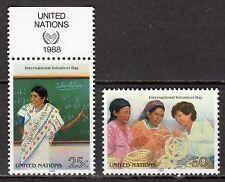 UN / New York office - 1988 Volunteer day - Mi. 549-50 MNH
