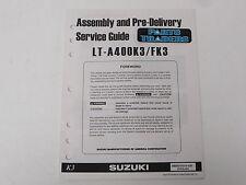 OEM Suzuki Assembly PDI Pre-Delivery Inspection Setup Service Guide LT-A400 LTA