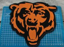 "CHICAGO BEARS NFL FOOTBALL SUPERBOWL 10"" HUGE PATCH LOGO SEW EMBROIDERED JACKET"