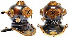 Antique Brass Deep Sea US Navy Mark V Diving Marine Scuba Divers Mini Helmet 8''