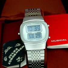 NOS vintage Jules Jurgensen Melody Alarm LCD watch