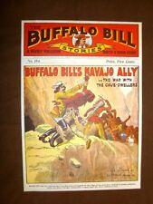 Pubblicità romanzo Buffalo Bill + Dick Dobbs  Stampa popolare americana U.S.A.