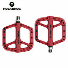 ROCKBROS MTB Widen Nylon Pedals Bicycle Pedal Bearing Mountain Bike Pedal Red