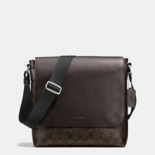 NWT COACH CHARLES MESSENGER LEATHER CROSSBODY MAHOGANY BLACK TABLET BAG F54771