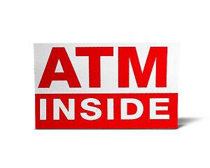 ATM INSIDE STICKER 4X6 Double Sided