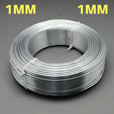 1mm Aluminium Craft Florist Wire Jewellery Making WHITE SMOKE GRAY 10m lengths