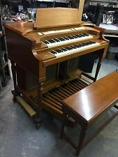 Allen Empire Church Organ w/ Leslie Internal Amplifier & Speakers, Full Walnut