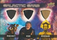 Guardians of the Galaxy Vol 2 GALACTIC GARB Triple Relic TM-13 Rocket/Ego/Ayesha