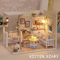 MagiDeal 1:24 DIY Miniature Dollhouse Diorama Living Room with Furniture
